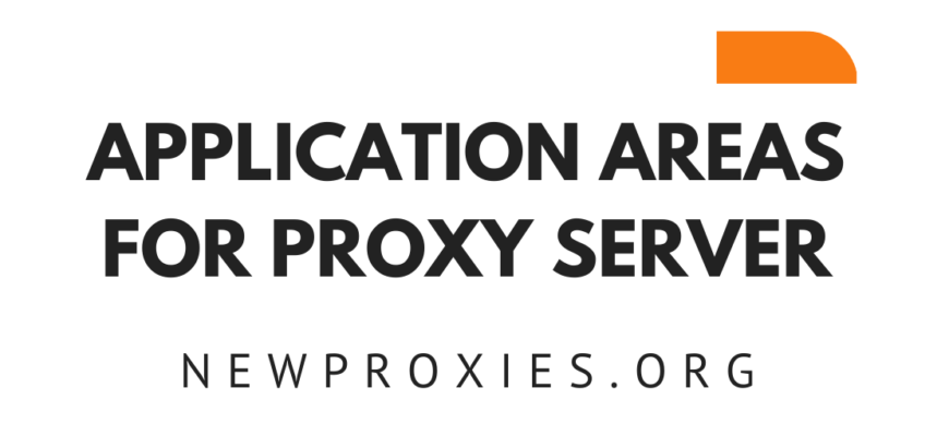 APPLICATION AREAS FOR PROXY SERVER